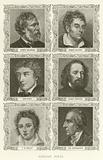 English Poets, Robert Browning, Robert Southey, John Keats, Alfred Tennyson, PB Shelley, William Wordsworth
