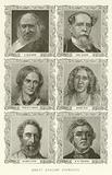 Great English Novelists, R Blackmore, Charles Dickens, Charlotte Bronte, George Eliot, Bulwer-Lytton, WM Thackeray