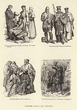Moorish Kings, 14th Century, Italian Scholars, German Women, City Burgesses, Knight, Duke …