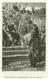 Vercingetorix surrenders Gaul to Caesar