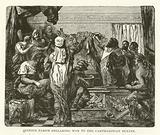 Quintus Fabius declaring war to the Carthaginian Senate