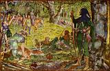 How the King, disguised as an Abbot, visited Robin under the Greenwood Tree