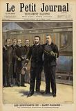 Survivors of the sinking of the Ville de Saint Nazaire, 1897
