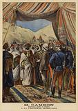 Jules Cambon, French Governor-General of Algeria, at the Moroccan border, 1897