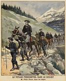 French President Felix Faure in the Alps, 1897