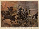 Terrible fire in London, 1897