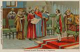 Oliver Cromwell sworn in as Lord Protector of England , Scotland and Ireland, 1653