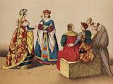 Spanish costumes of the 15th Century