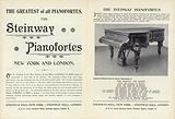 Advertisement for Steinway pianos