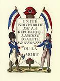 Facsimile of a Republican placard, French Revolution
