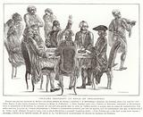 Voltaire presiding at a philosophers' meal, 18th Century