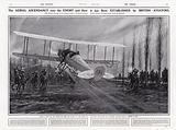 British aeroplane escaping a German patrol, World War I, Belgium