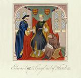 King Edward III of England and Guy, Count of Flanders, 14th Century
