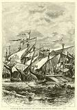 Battle of Sluys, between the English and French Fleets, 1340 AD