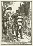 The Damsel warns Sir Balin