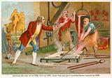 Jean-Balthazar Keller casting the first equestrian statue in 1699.