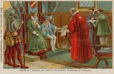 Michel de l'Hospital establishing the first commercial courts in France, 16th Century