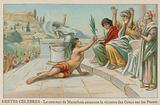 Pheidippides brings news of the victory of the Greeks over the Persians at Marathon, 490 BC
