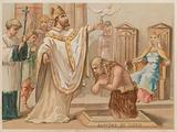 Baptism of Clovis I, King of the Franks, Christmas Day 496