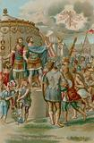 The vision of Constantine before the Battle of Milvian Bridge, 312