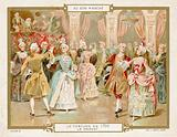 Costume in 1700: dancing the minuet