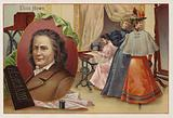 Elias Howe, American inventor and pioneer of the sewing machine