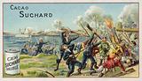 Fighting at Taku, China, Boxer Rebellion, 1900