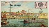 Warship at Taku, China, Boxer Rebellion, 1900