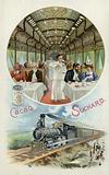 Drinking Suchard cocoa in the dining car of a train