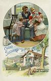 Feeding a young child Suchard cocoa