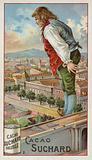 Gulliver exploring the city of Lilliput