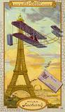 Charles de Lambert in a Wright biplane, Paris