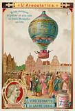 First untethered flight of the Montgolfier Brothers' hot air balloon, 1783