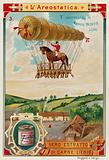 Pierre Testu-Brissy's balloon flight on horseback, 1786