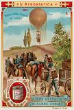 French military balloon in the field, 1894