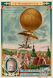 Jean-Pierre Blanchard making the first descent from a balloon by parachute, 1785