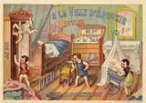 Children's bedroom, with cupids