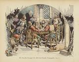 Bertrand du Guesclin haranguing the leaders of the Grand Companies