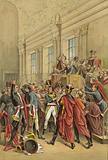 Napoleon evicting the Council of Five Hundred from its chambers, Coup of 18 Brumaire, 1799