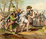 The return of Joshua and Caleb