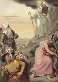 Moses coming down Mount Sinai