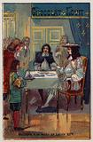 Moliere at the table of Louis XIV