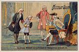 The young Mozart is presented to the Emperor Joseph II