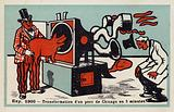 Exposition 1900 – transformation of a Chicago pig in 5 minutes
