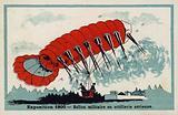 Exposition 1900 - military balloon or aerial artillery