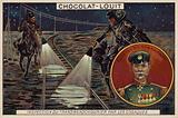 General Rennenkampf, and Cossacks inspecting the Transmanchurian Railway, Russo-Japanese War, 1904-1905
