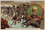 General Linevich, and Cossacks; charging through a Manchurian village, Russo-Japanese War, 1904-1905