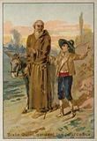 Pope Sixtus V as a child, looking after a herd of pigs