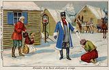 Tsar Alexander II of Russia abolishing serfdom