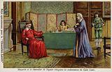 Cardinal Mazarin and Chancellor Seguier drafting the ordinances of the Code Louis